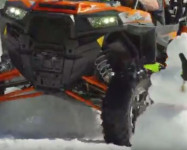 RZR Test: Drift up face of ski resort
